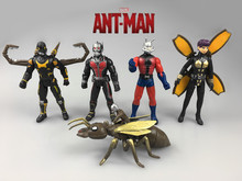 Action figure toys Marvel Super Hero Ant Man aciton toys 5pcs set 12cm