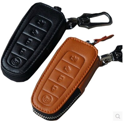 Special Car Key Case For Ford Edge   Fashion Durable Genuine Leather Key Cover For Edge Free Shipping In Key Rings From Automobiles