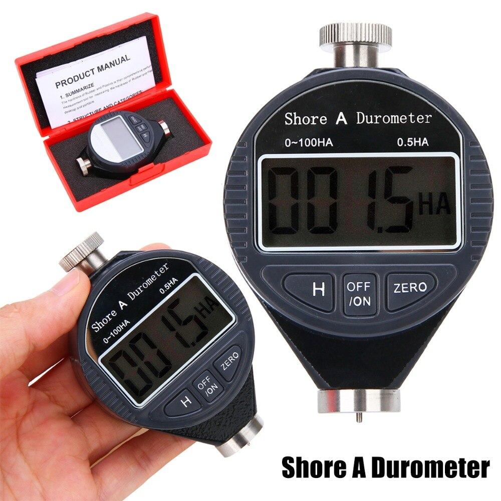 1 pz New Digital Durezza Durometro Tester 0-100HA Shore A CRISTALLI LIQUIDI del Tester Per nastri In Gomma In Pelle di Plastica Multi-grasso Cera