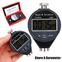1pc New Digital Hardness Durometer Tester 0 100HA Shore A LCD Meter For Rubber Plastic Leather Multi grease Wax