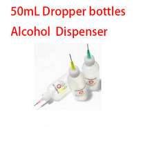 FEPRLO 10Pcs 50mL Dropper bottles Dispense Alcohol Oil Squeeze Bottle with Needle Tip free shipping