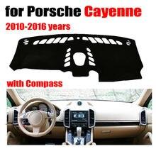 RKAC cruscotto Dell'automobile mat copertura per Porsche Cayenne con la Bussola 2010-2016 guida a Sinistra dashmat pad dash covers accessori auto