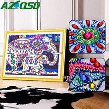 AZQSD Diamond Embroidery Elephant 5d Diy Painting Animal Special Shape Pictures Of Rhinestones Mosaic Handicraft Hobby