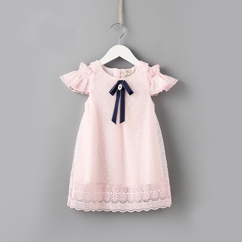 Baby Dress Pink Newborn Infant Baby Girl Summer Clothes Sleeveless Beach Dresses Front Pocket With Bow Bebe Vestidos Roupa A014 self tie dual pocket front dress
