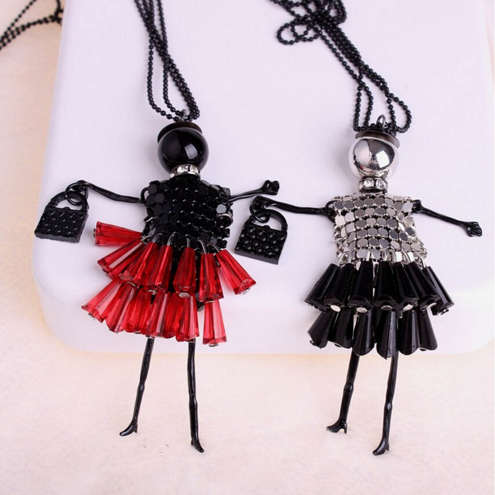Hot fashion sweater chain 2018 new Korean wild crystal piece girl pendant necklace long necklace for women jewelry Bijoux
