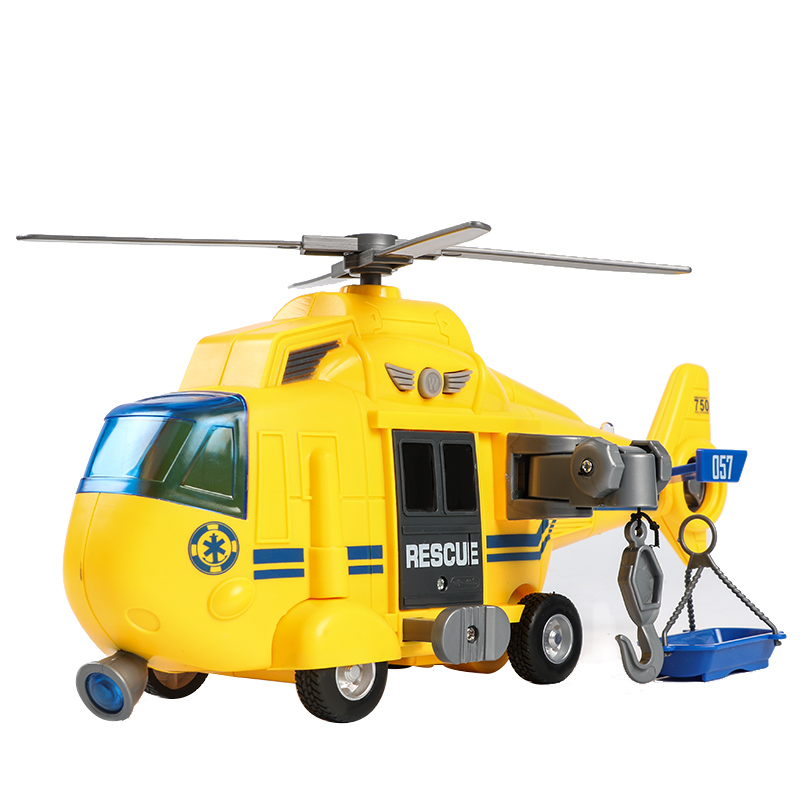 3-6 Year Old Boy Toy Car Model Inertial Simulation Combat Rescue Helicopter 28*11*15cm Large Size for Children Gift Jsuny Toy