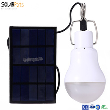Solarparts 1 5W solar panel power portable led bulb light soalr engegy lamp camp tent night