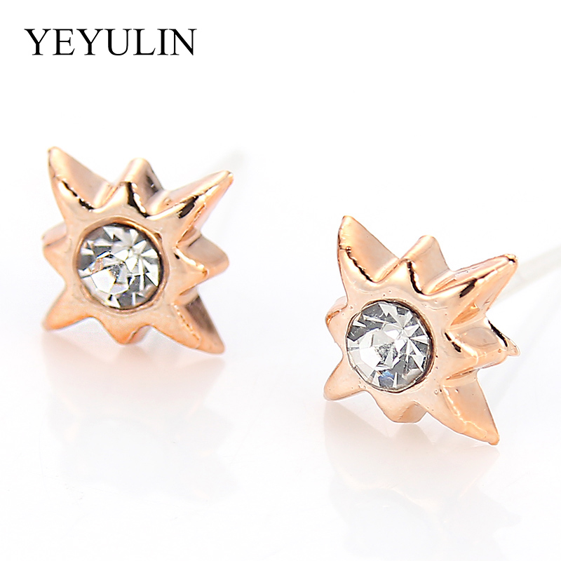 HTB1AUqhX5LrK1Rjy1zdq6ynnpXaY - 36Pairs/18pairs Earrings Mixed Styles Rhinestone Sun Flower Geometric Animal Plastic Stud Earrings Set For Women Girls Jewelry
