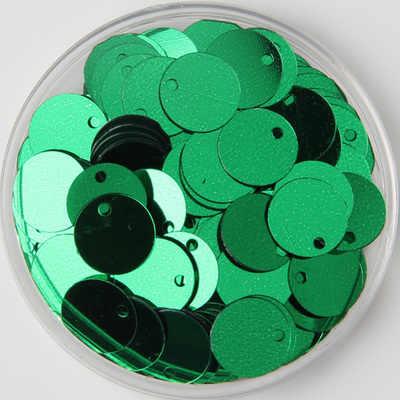 1000 шт/партия 12 мм большие круглые Блестки ПВХ плоские круглые Швейные украшения DIY с боковым отверстием ремесло аксессуар Зеленый Конфетти