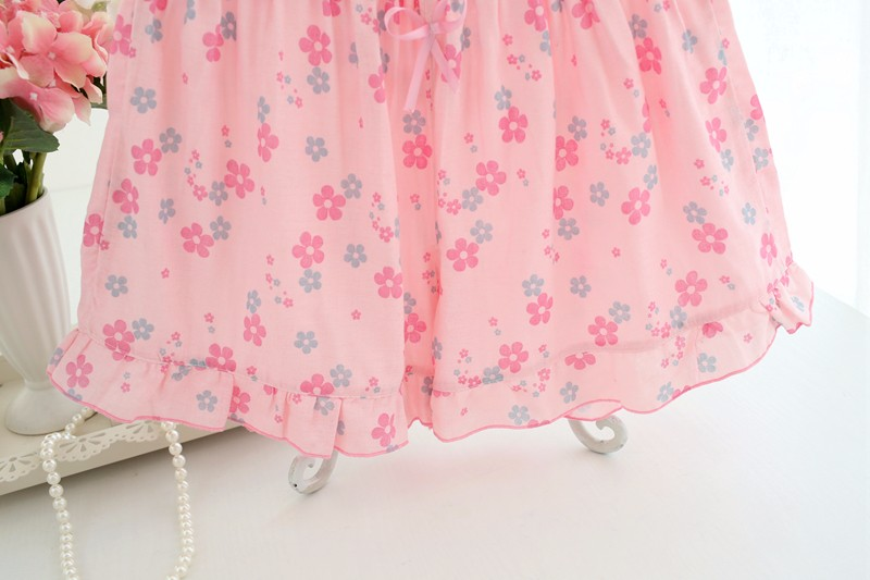 100% cotton gauze floral shorts for women