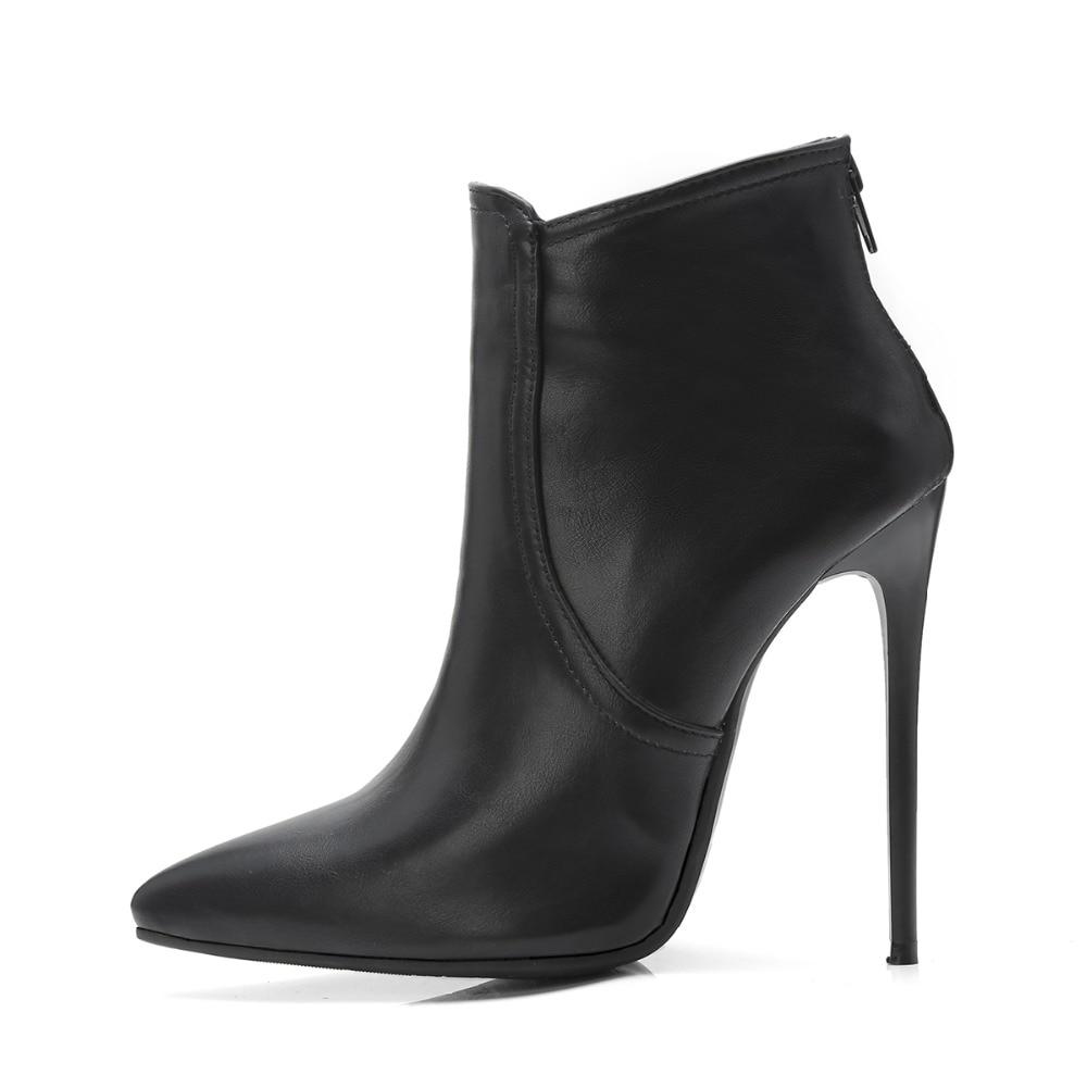 Dames gris Femmes Cdpundari kaqi Super Pointu Bout Talons Hauts Les Taille Bottines Hiver Pour Noir Grande Bottes Sexy Chaussures rrPBT