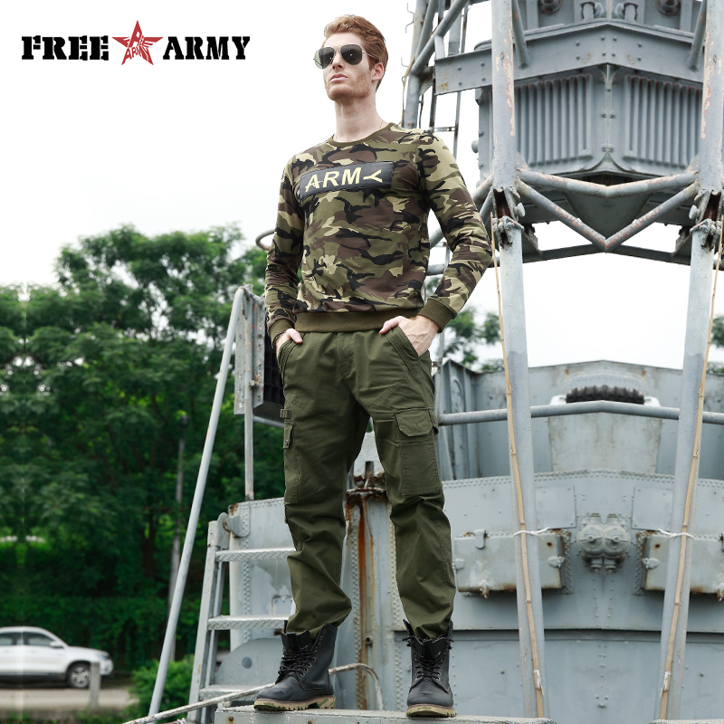 FREE ARMY 2017 New War Game Men Tactical Pants Camouflage Cargo Pants Casual Pants Army Military Work Active Pants Trousers Men