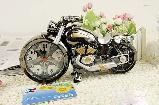 free shipping Cool motorcycle model grandfather clock alarm clock fashion personality alarm clock creative home gifts