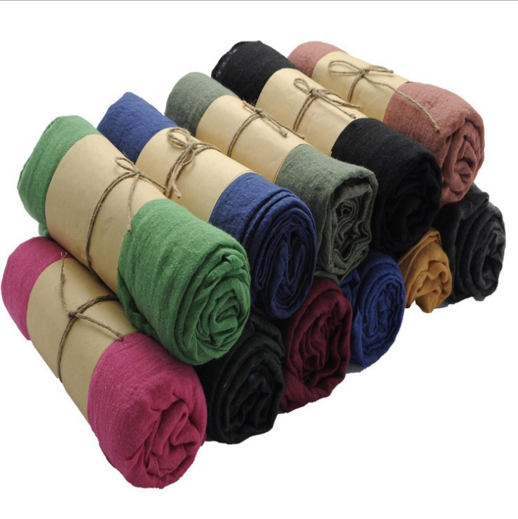 2014 New Hot Fashion Autumn Winter Cotton Scarf Voile Women Brand Infinity Solid Casual Shawl 20 Colours Available Free Shipping