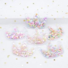 12Pcs Filling Multiple Styles Sequin Applique Crown Patches for DIY Cake Topper Hat Clothes Headwear Hair Clips Accessories H07