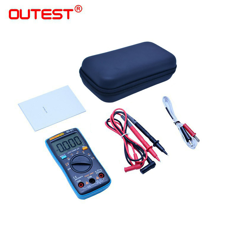 OUTEST Digital Multimeter 6000 Counts Backlight AC/DC Ammeter Voltmeter Ohm Portable Tester Multimeter Pocket Voltage Meter