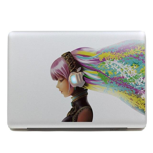 Съемный DIY симпатичные красивая красочные музыка девушка планшет наклейки и портативный компьютер наклейка для ноутбука, 260 x 270 мм