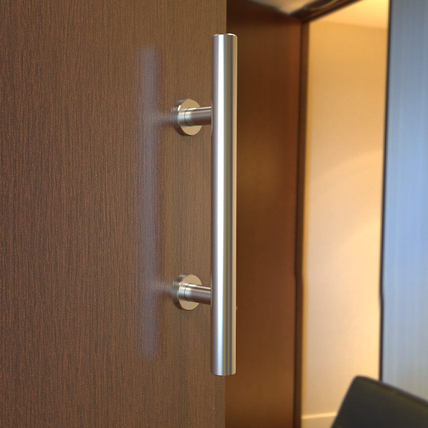 Stainless Steel Sliding Barn Door Pull Handle Wood Door