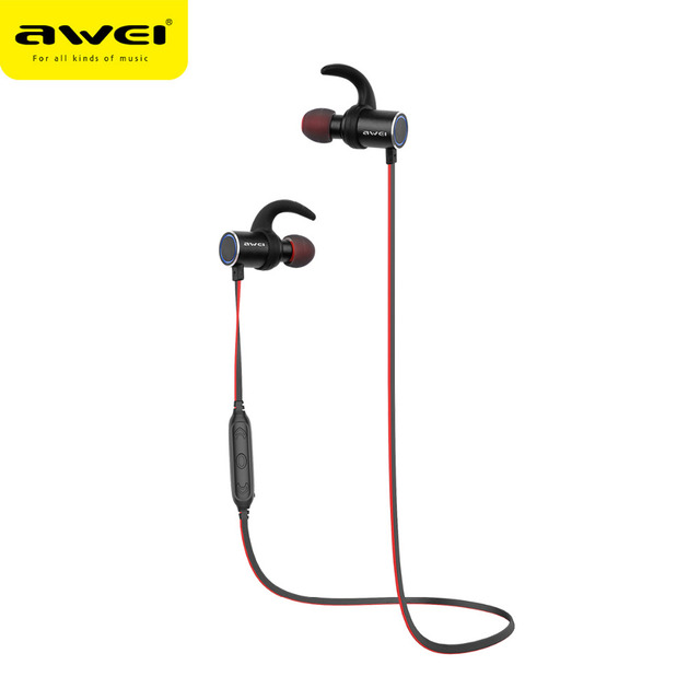 f896d7bce7c Awei AK8 IPX4 Waterproof Headphone Magic Magnet Attraction Bluetooth Sports  Earphones with Microphone For iPhone samsung