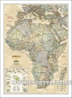 Large Vintage Africa Map Bar Cafe Home Decoration Detailed Antique Poster Wall Chart Retro Cotton cloth Canvas painting 2 Size