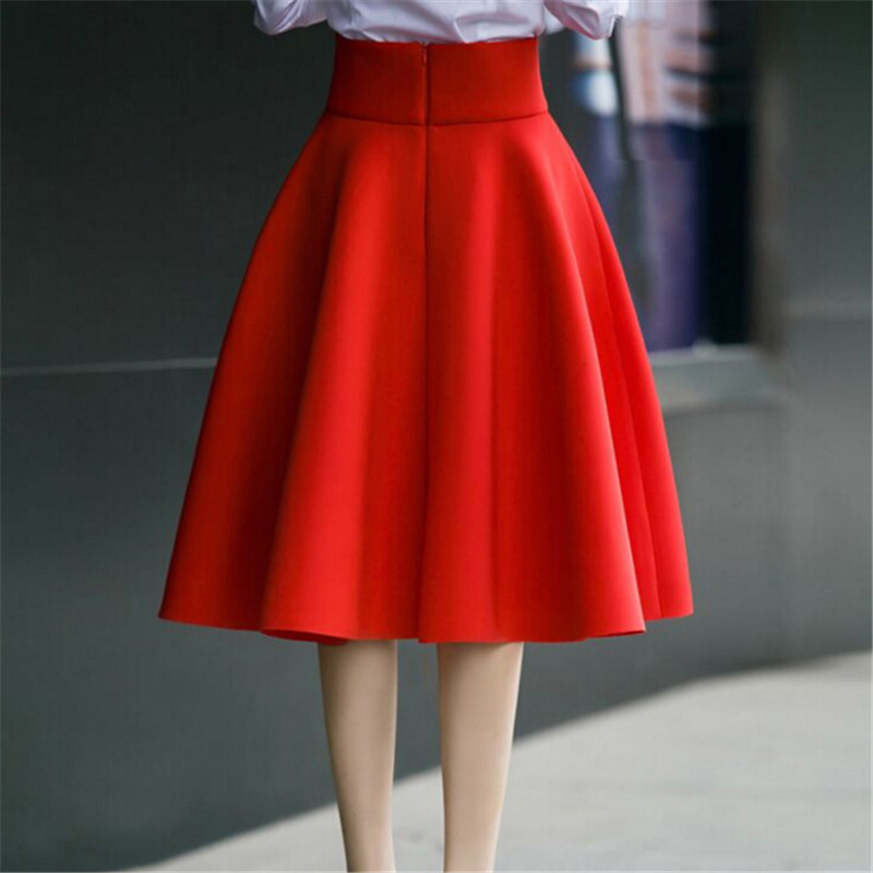Compare Prices on Red Knee Length Skirt- Online Shopping/Buy Low ...