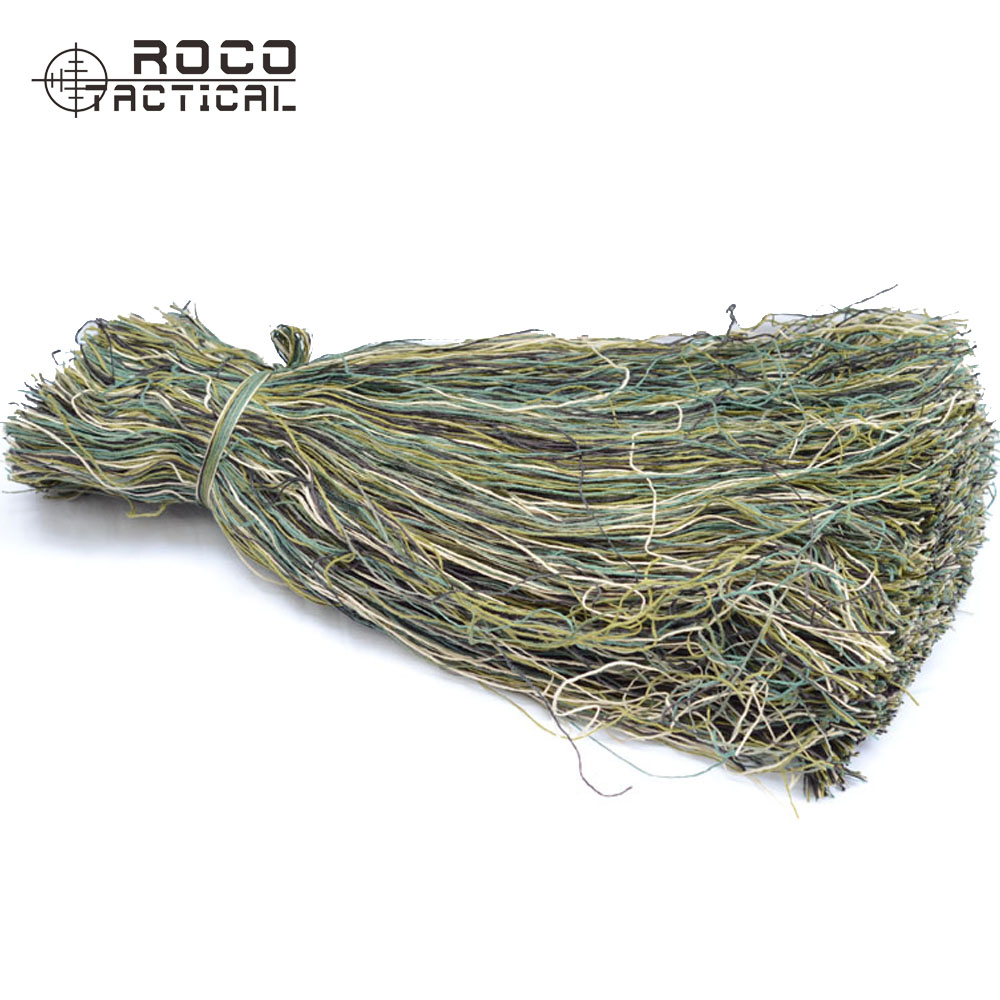 ROCOTACTICAL Synthetic Ghillie Thread Burlap Yarns For Ghillie Suit Ghillie Paintball Camouflage Kit Synthetic Thread 1Bag/Lot
