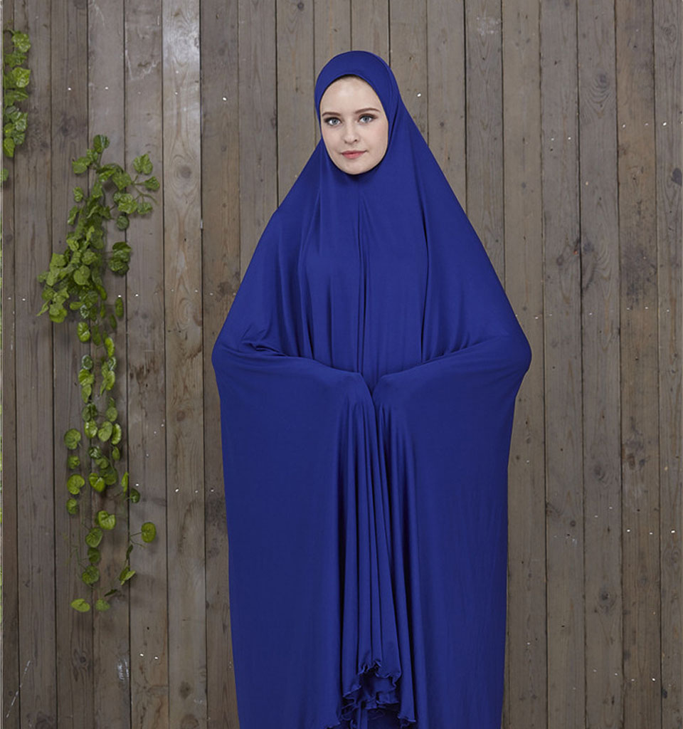 Women Prayer Garment Black Islamic Clothing Muslim Abaya Long Prayer Hijab With Robes Muslim Attire Bat Clothing Gown Robes