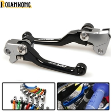 цена на LOGO WR450F dirt bike Pivot Brake Clutch Levers foldable motorbike brake For yamaha WR450F  2003-2018 WR 450F WR450 F