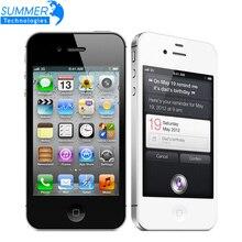 Оригинальный Разблокирована Apple iphone 4S Сотовые телефоны 3.5 «сетчатки IPS 16 ГБ ROM Мобильный Телефон 8MP 1080 P WCDMA GPS IOS Используется