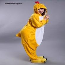 Kigurumi Onesies Neutral chicken pajamas anime hooded Cosplay adult jumpsuit Unisex Halloween Christmas Party Costumes