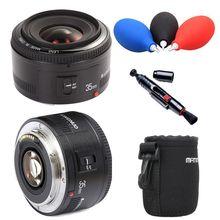 Yongnuo 35mm lente YN35mm F2.0 lens Wide angle Fixo Lente da câmera dslr para canon 600d 60d 5DII 5D 500D 400D 450D 60D 650D 600D 7D