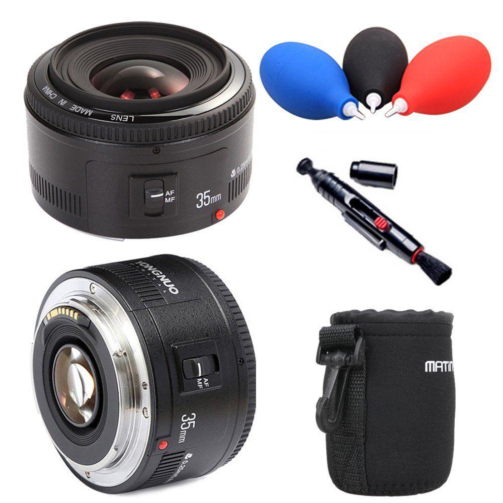 Yongnuo 35mm lentille YN35mm F2.0 lentille Grand angle Fixe Objectif d'appareil photo reflex numérique Pour canon 600d 60d 5DII 5D 500D 400D 650D 600D 450D 60D 7D