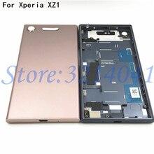 新しいメタルバッテリーハウジングソニーの Xperia XZ1 G8341 G8342 バックカバーケースバッテリードア裏表紙ハウジングフレームロゴ