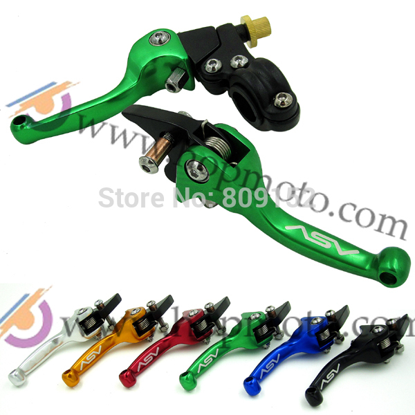 Pit Bike ASV clutch and brake folding lever 6 colour for dirt pit bike spare parts option free shipping asv clutch and brake folding aluminum lever for dirt bike pit bike spare parts