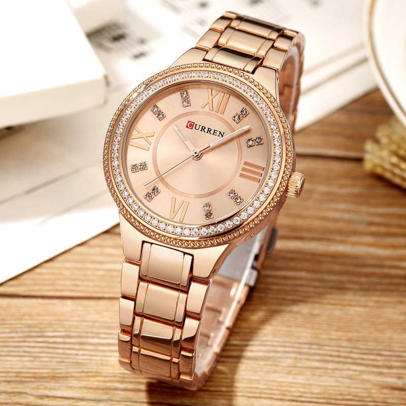NEW Women's Fashion Watches Curren Luxury Gold Stainless Steel Quartz Watch Ladies Dress Jewelry For Women Gifts Wristwatches