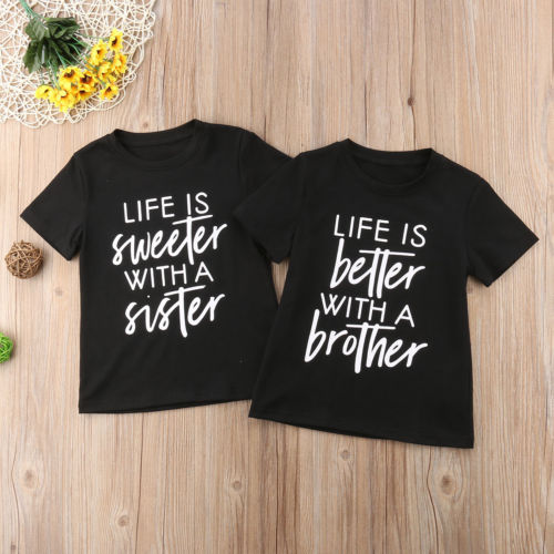 Clothing T-Shirt Short-Sleeve Baby-Boys-Girls Kids Cotton Summer 2-8T Tee Casual Letter