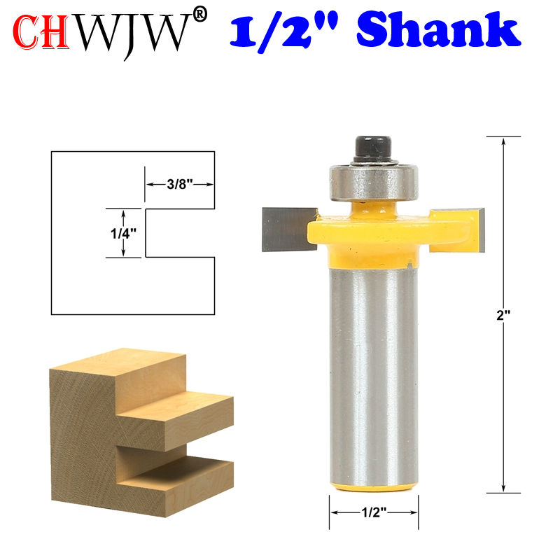 1pc 1/4 Slot Slotting & Rabbeting Router Bit - 1/2 Shank Woodworking cutter Tenon Cutter for Woodworking Tools 2 pc 1 2 sh 1 2 3 8 rabbeting