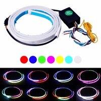 HengChiLun 120 cm DRL Linh Hoạt LED Ống Strip 7 Màu Flash LED Thanh ánh sáng Xếp Strips cho Auto Thân Đuôi Xe Tải Bật Tín Hiệu