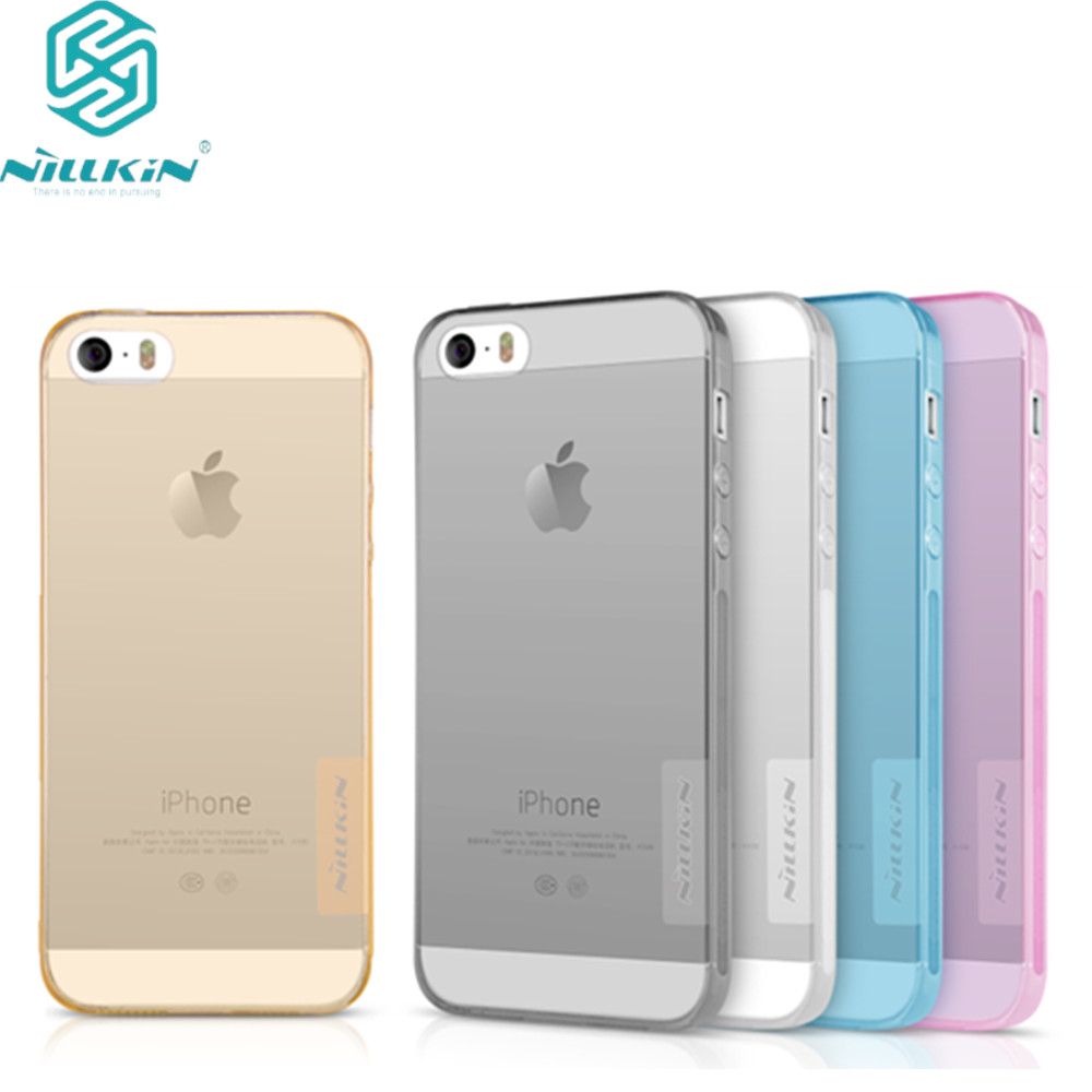 for iphone SE case NILLKIN Nature clear TPU Ultra Thin Case For for apple iPhone 5s Soft Back cover case 4.0 inch for iphone 5