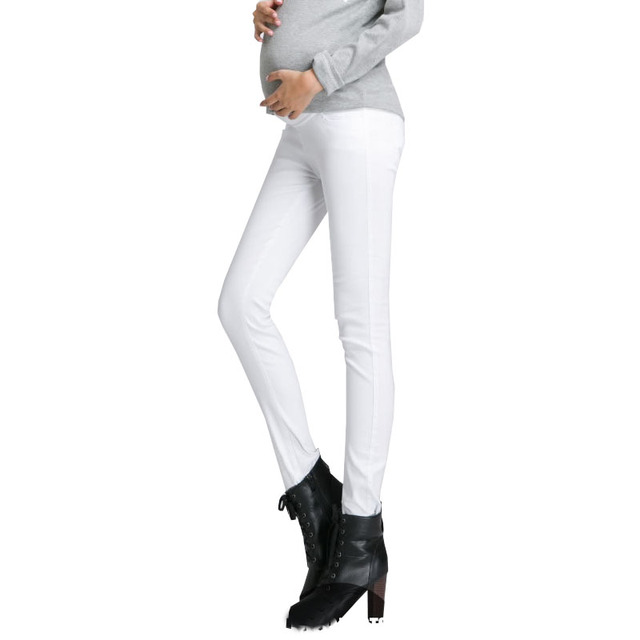 Maternity jeans skinny fashion pants spring and autumn trousers 100% cotton for pregnant women clothing