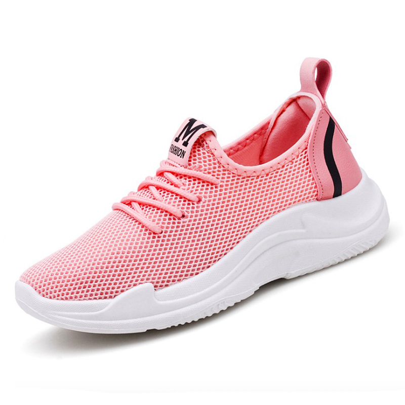 Women Sneakers 2018 Summer Women Casual Shoes Fashion Breathable Mesh Casual Women Shoes light Soft Flats Shoes summer sandals women leather breathable mesh outdoor super light flats shoes all match casual shoes aa40140