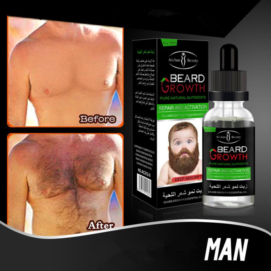 1 x beard repair growth solution Men Liquid Beard Growth Fast Enhance Facial Whiskers Nutrition Moustache Drop Shipping 2