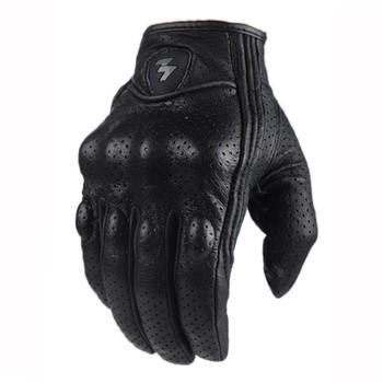 Gorąca sprzedaż pełna Finger moto rcycle rękawice Guantes moto Verano skóra motocrossowa rękawica de moto para hombres wyścigi rowerowe jazda konna tanie i dobre opinie Mężczyźni Oddychająca