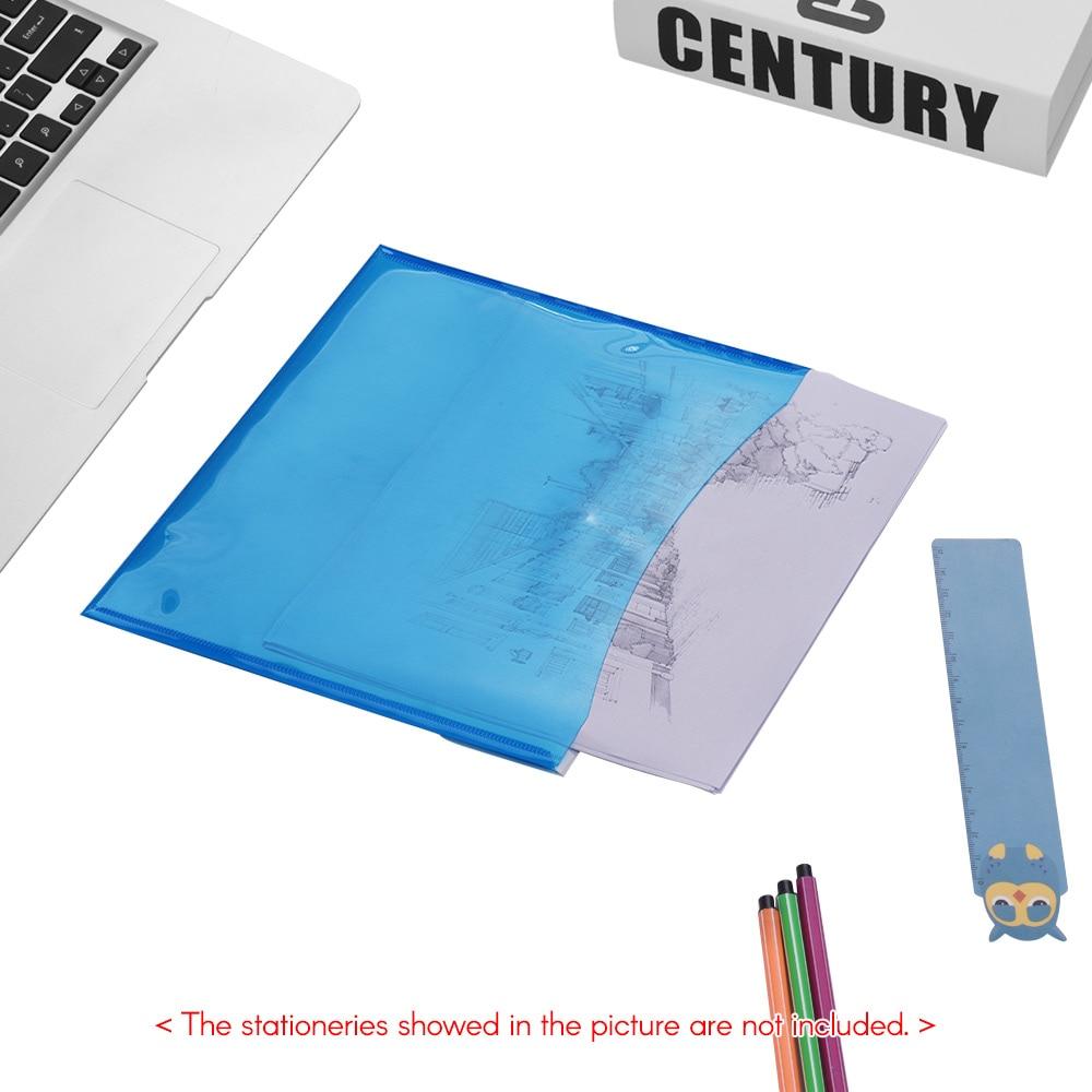 File Folder Waterproof A4 Plastic File Folder Zipper Bag Paper File Bags Document Folders Papelaria Cute Korean Stationery Supplies Modern Design