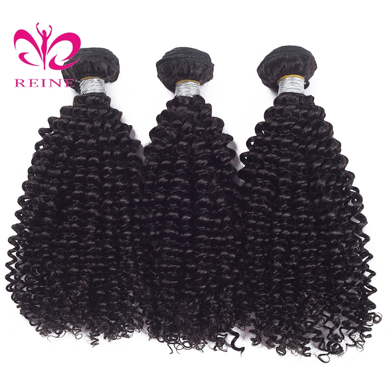 Reine Kinky Curly Weave Human Hair Bundles Human Hair Extensions Can Buy 3 Or 4 Pcs Peruvian Hair none remy free shipping