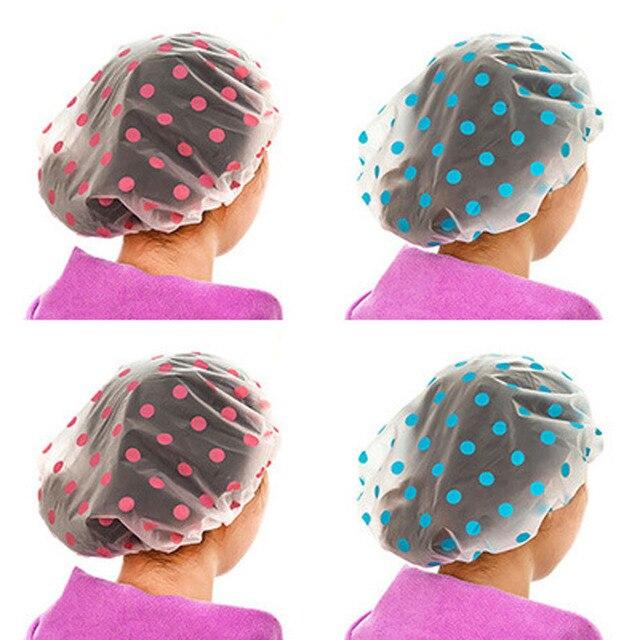 1 PZ Colore Casuale Dot Cuffia per La Doccia Impermeabile Addensare Bagno Cuffia