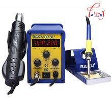 1 шт. БАКУ BK-878L2 светодиодный цифровой Дисплей SMD Бесщеточное Термовоздушная Паяльная станция + Паяльник и Тепловой Пушки для Ремонта Сотовых Телефонов