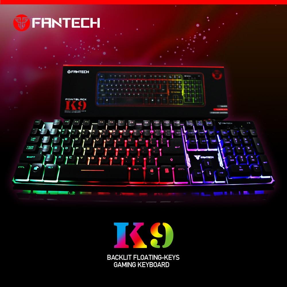 70d3961ef37 FANTECH K9 ABS Colorful LED Backlit Wired USB Gaming Keyboard Computer  Keyboard Teclado Desktop Laptop