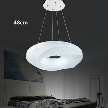 Led restaurant chandeliers restaurant lights acrylic North European chandeliers single head ring dining room dining table lamp