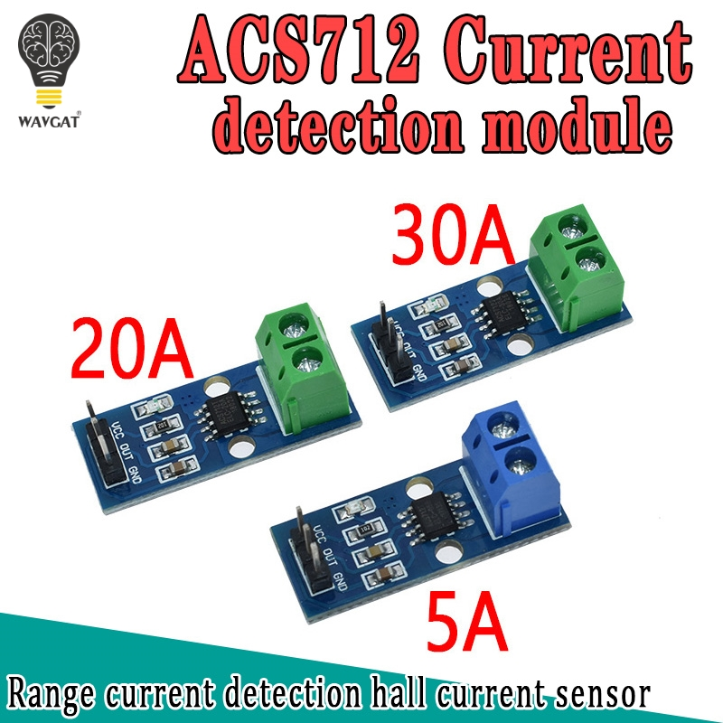 WAVGAT Hot Sale ACS712 5A 20A 30A Range Hall Current Sensor Module ACS712 Module For Arduino 20A